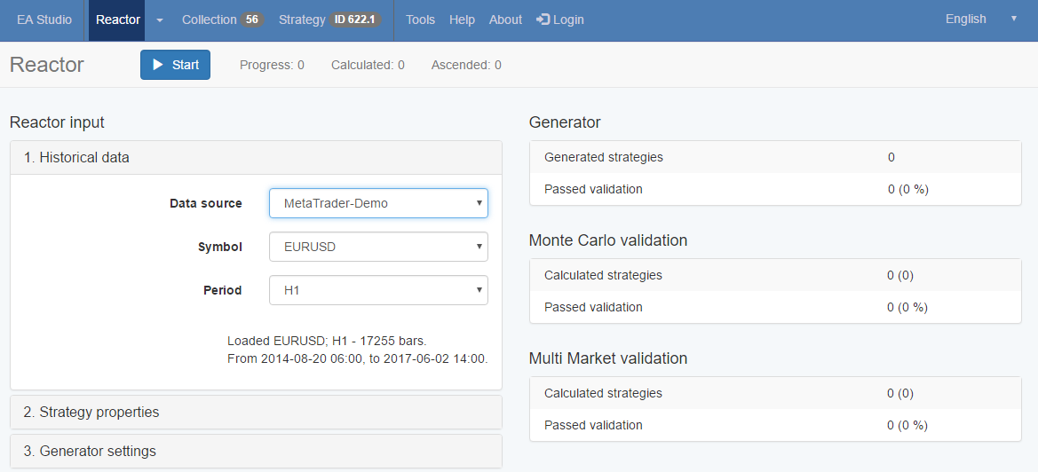 New! The Reactor – The newest tool in our web based Automated Forex Trading Software