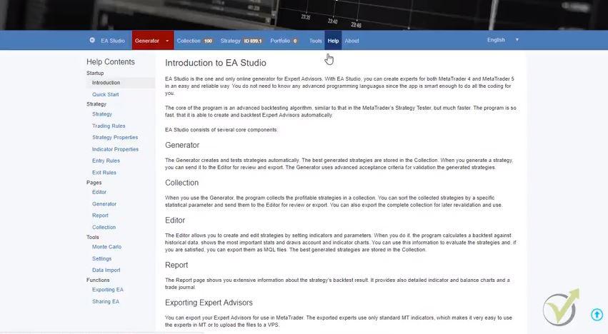 tools in EA studio