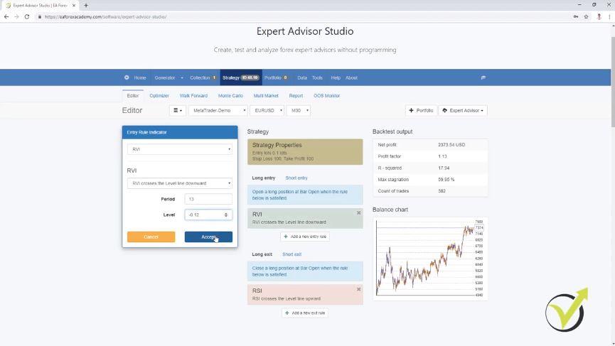 MT4 Expert Advisor Builder for strategies