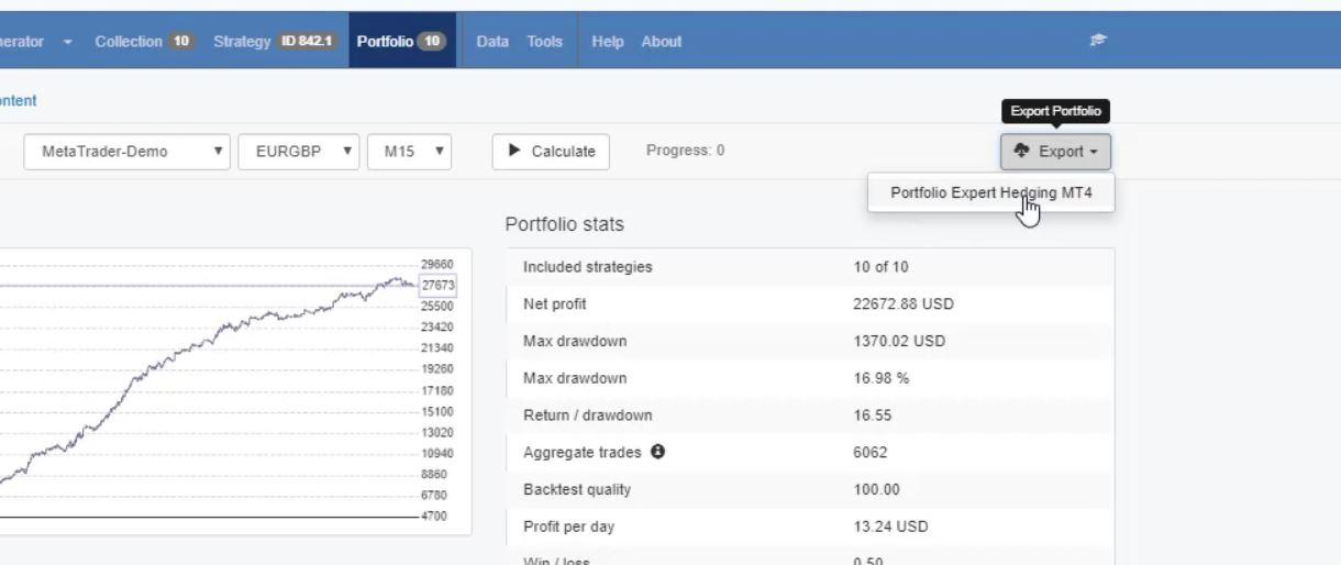 backtest portfolio Export