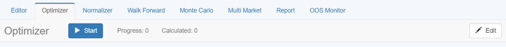 forex strategy optimizer toolbar