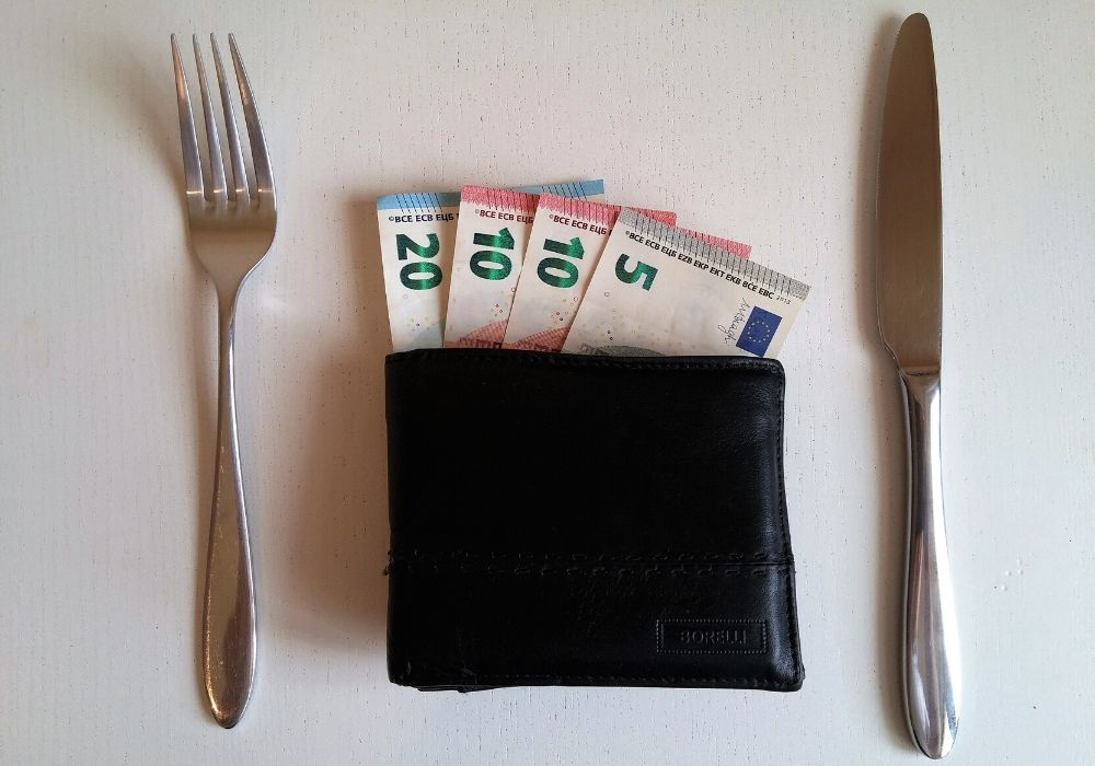 Money on a table