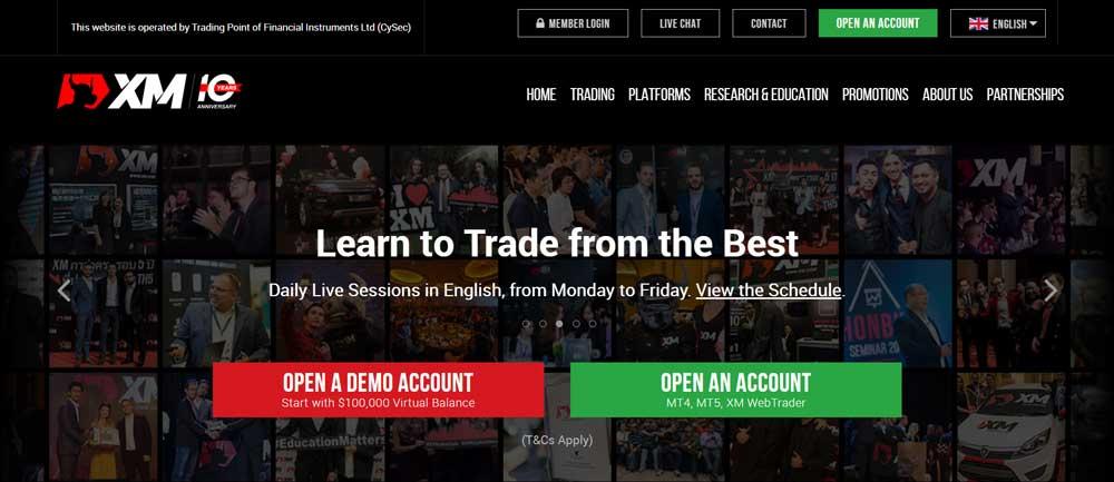 XM Broker Website