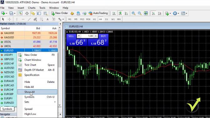 MetaTrader Market Watch tutorial