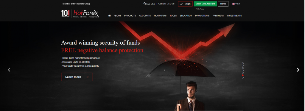 HotForex review broker site