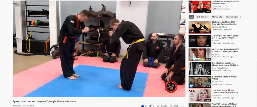 how I am training martial arts