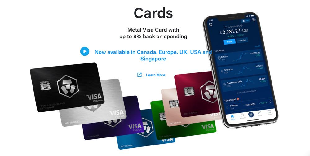 Review the Crypto.com Visa Cards