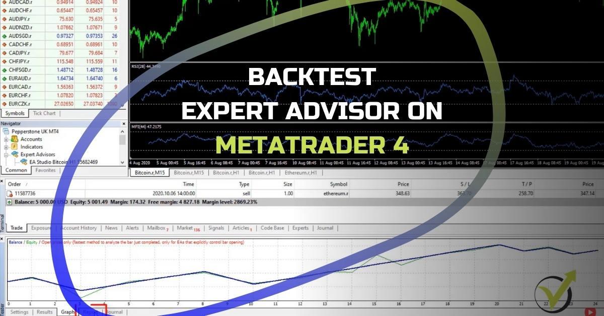 backtest Expert Advisor on MetaTrader 4