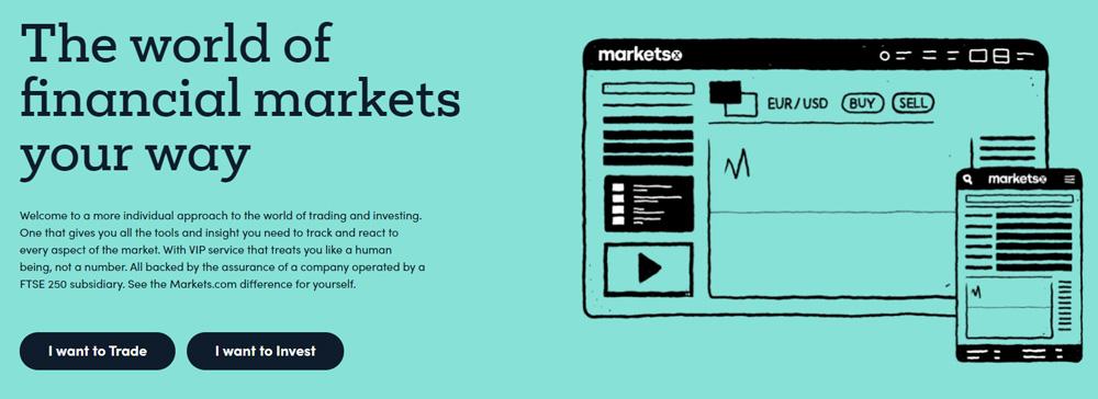 review of Markets.com website