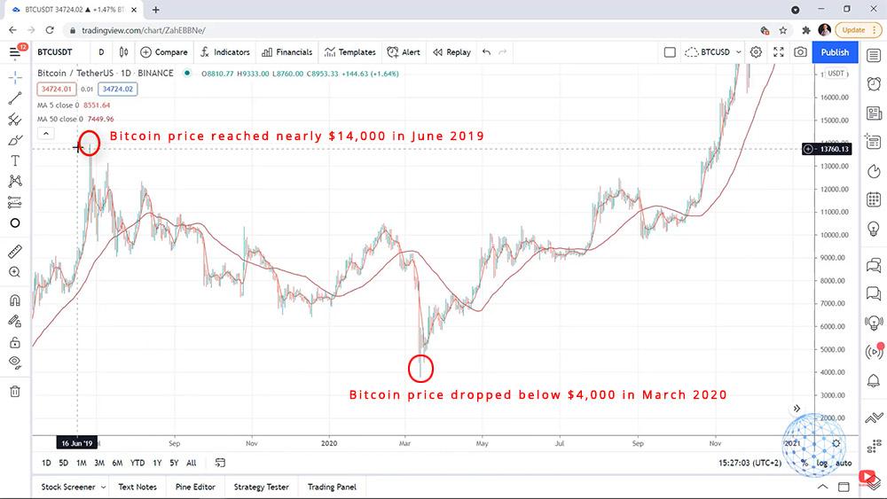 The volatility of Bitcoin price